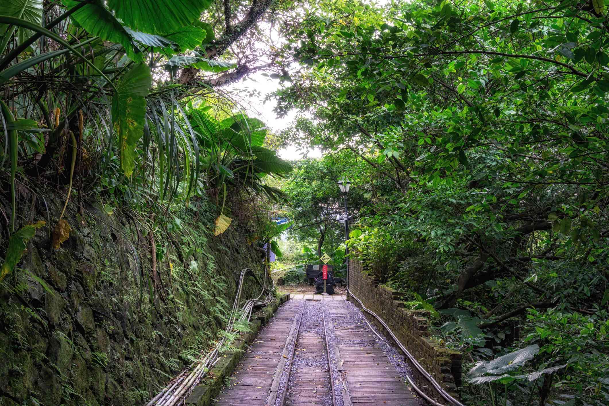 Jinguashi gold ecological park railroad