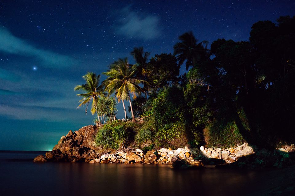 Koh Lanta in Thailand at night