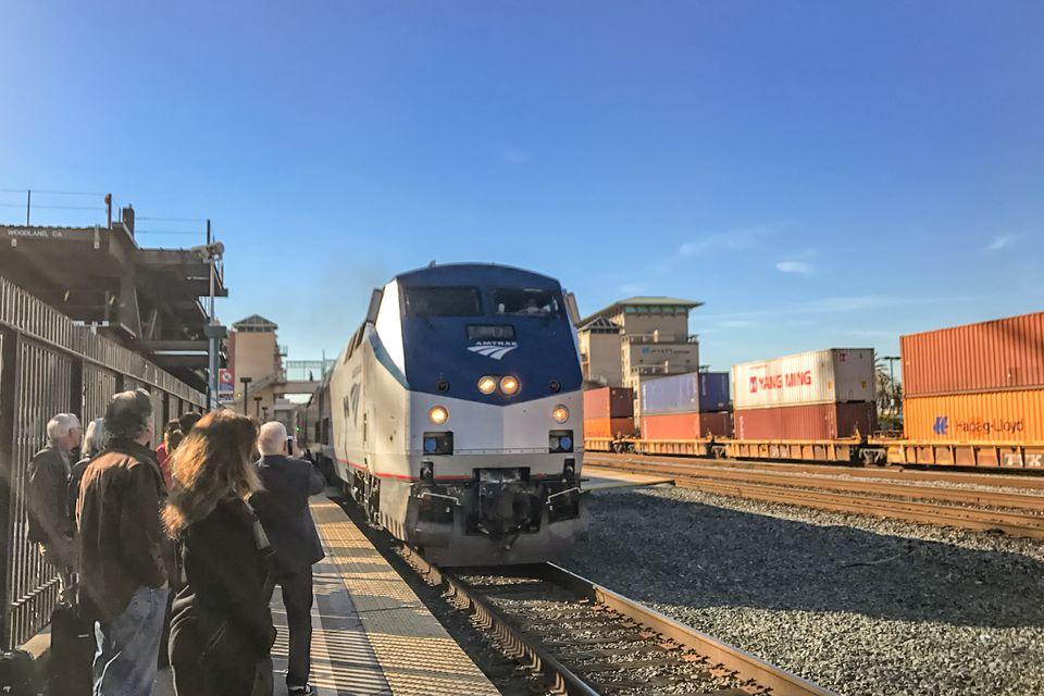 Zephyr de California en la estación de Emeryville