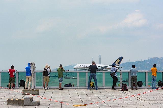 The SkyDeck at Hong Kong International Airport.