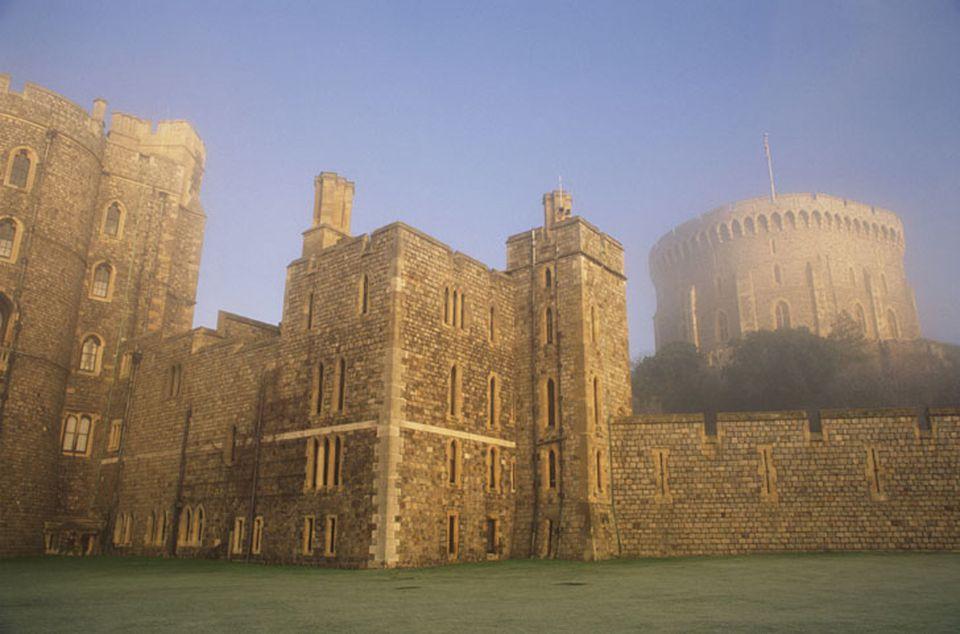 Windsor Castle in the morning mist