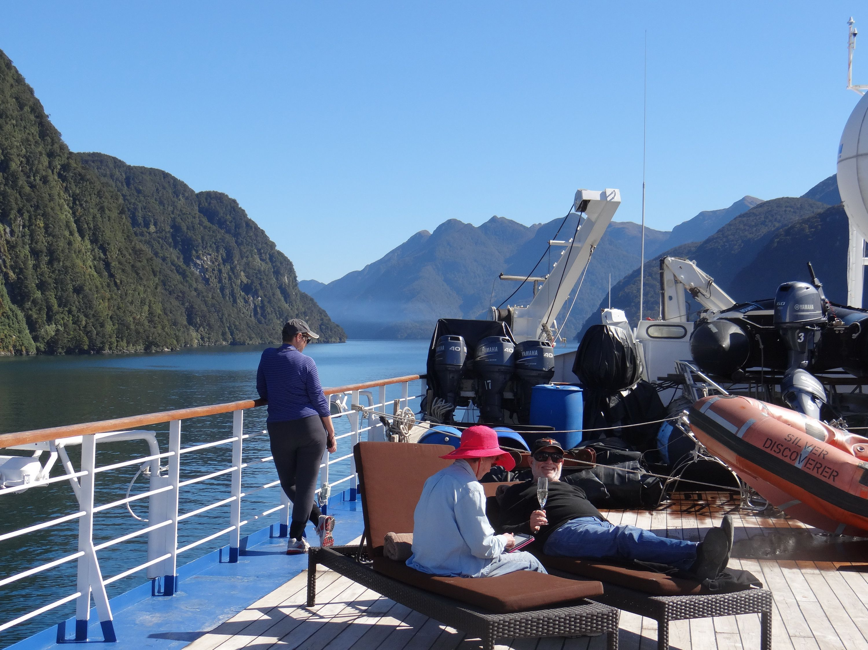 Cruising Dusky Sound in New Zealand
