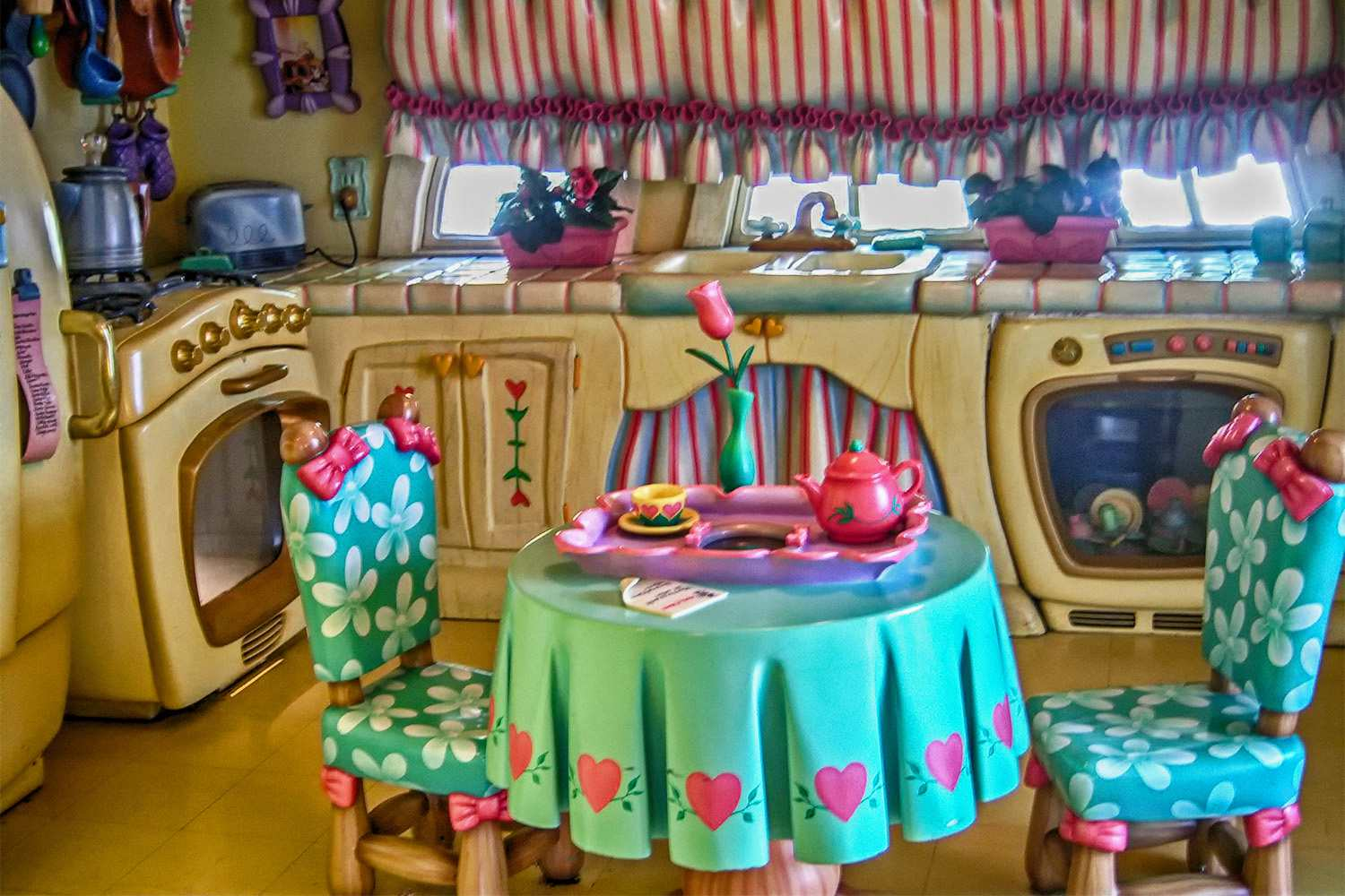Inside Minnie's House in Toontown