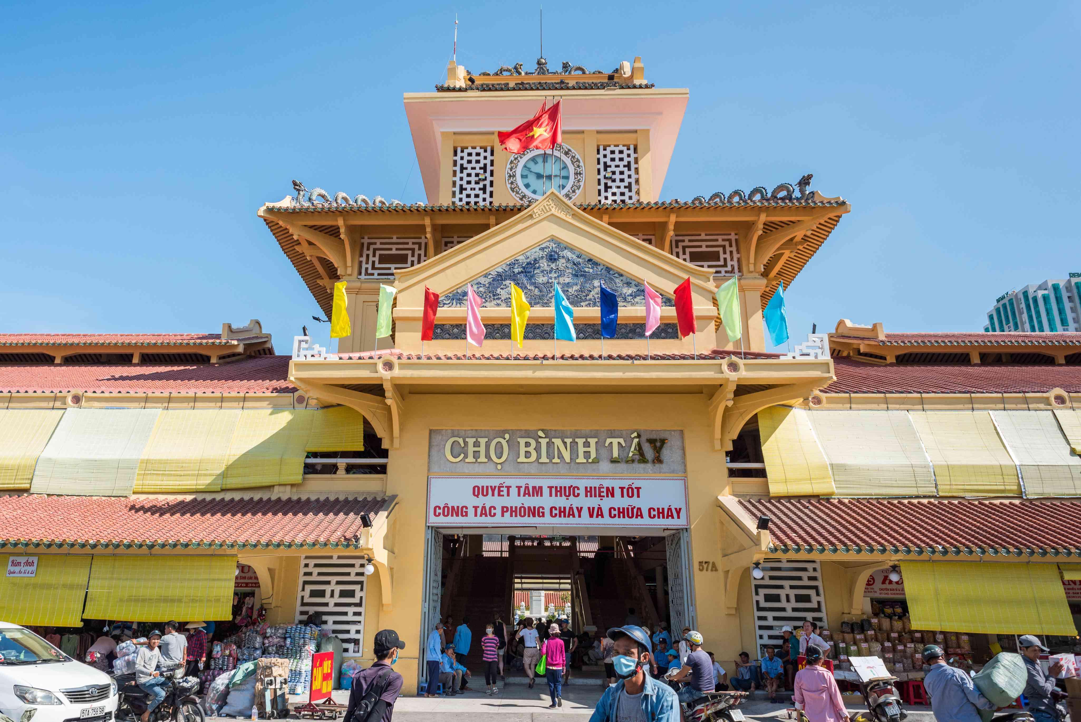Entrance of Binh Tay Market in Ho Chi Minh City