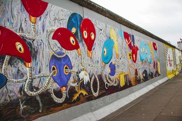 A mural on the Berlin Wall