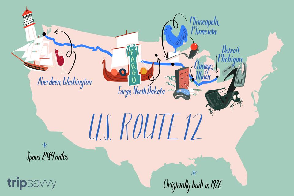 Atracciones a lo largo de la ruta 12 de EE. UU.