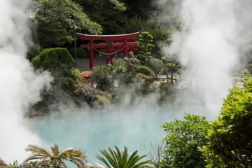 the Sea Hell in Beppu, Japan, Onsen hot spring