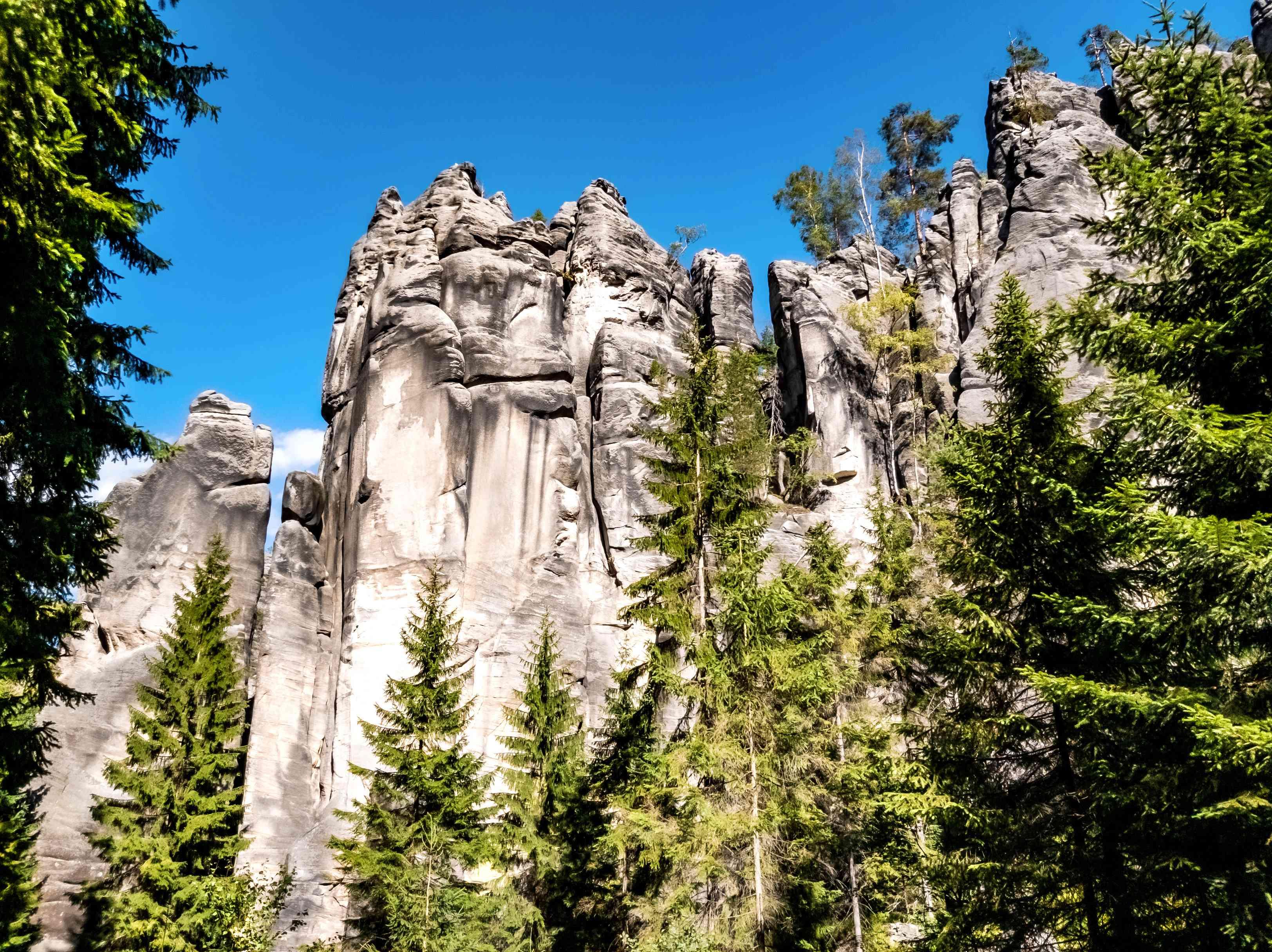 Formaciones rocosas de arenisca en las rocas de Teplice en las proximidades de Teplice nad Metují, checo República