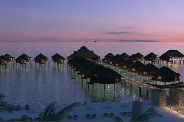 Karisma Resorts overwater bungalows dawn