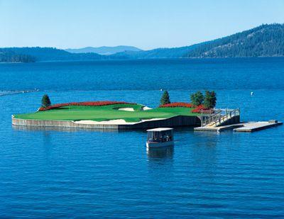 Floating Golf Green at Coeur d'Alene Resort