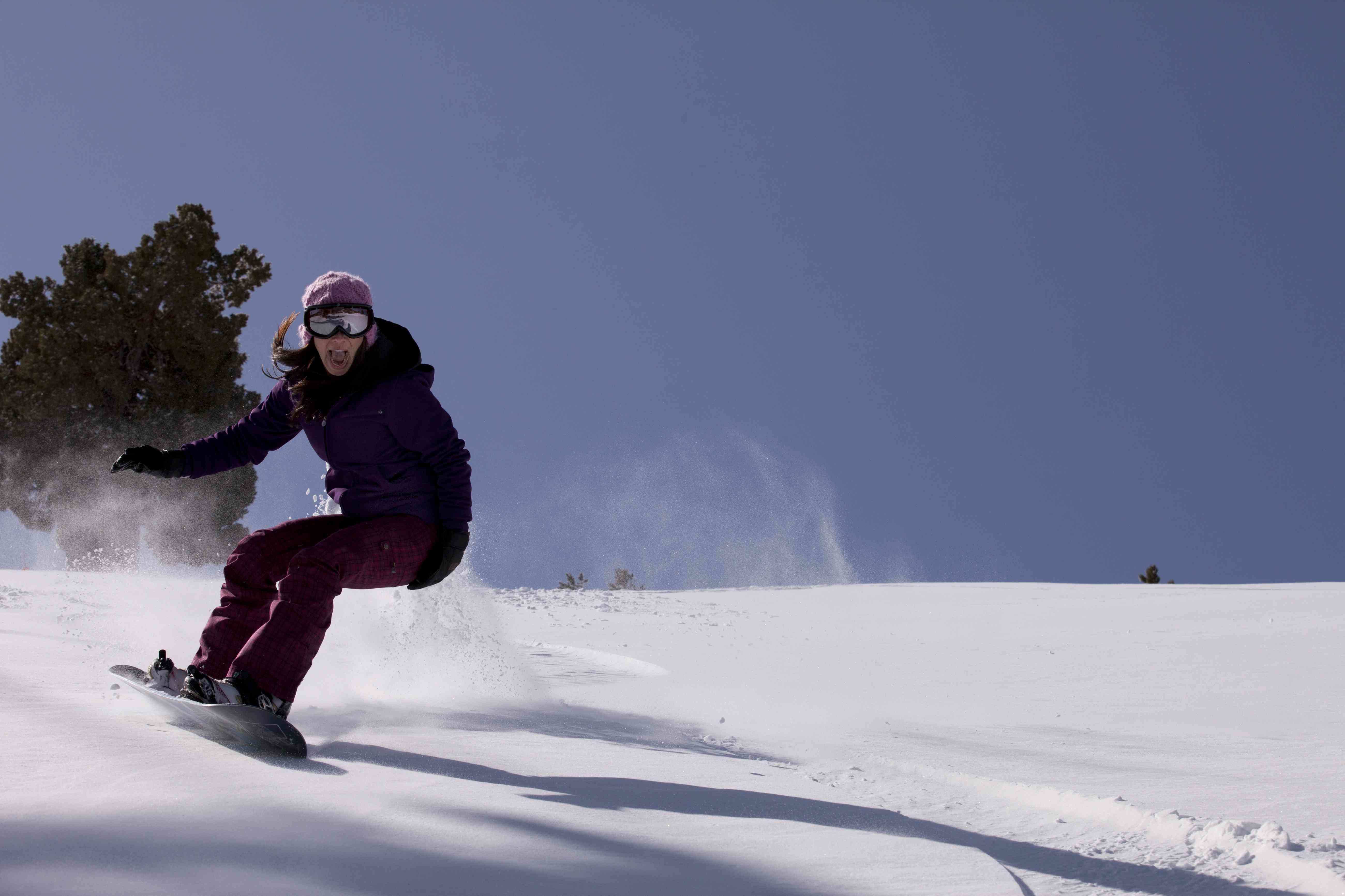 Snowboarder at Big Bear, Califorina