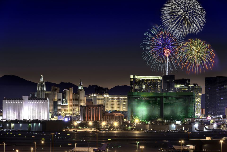 Independence Day Fireworks in Las Vegas Nevada USA