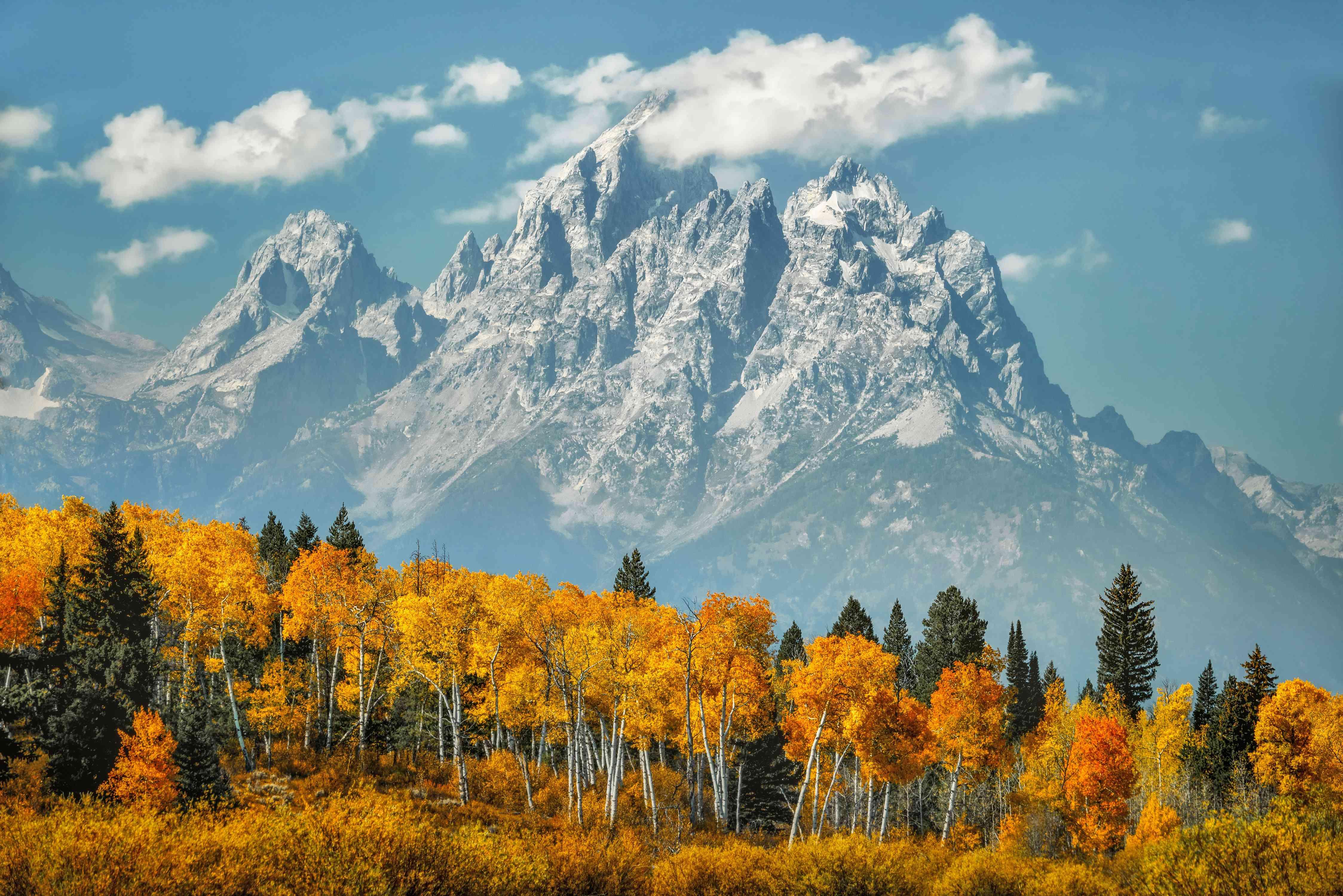 Montañas Grand Teton en otoño