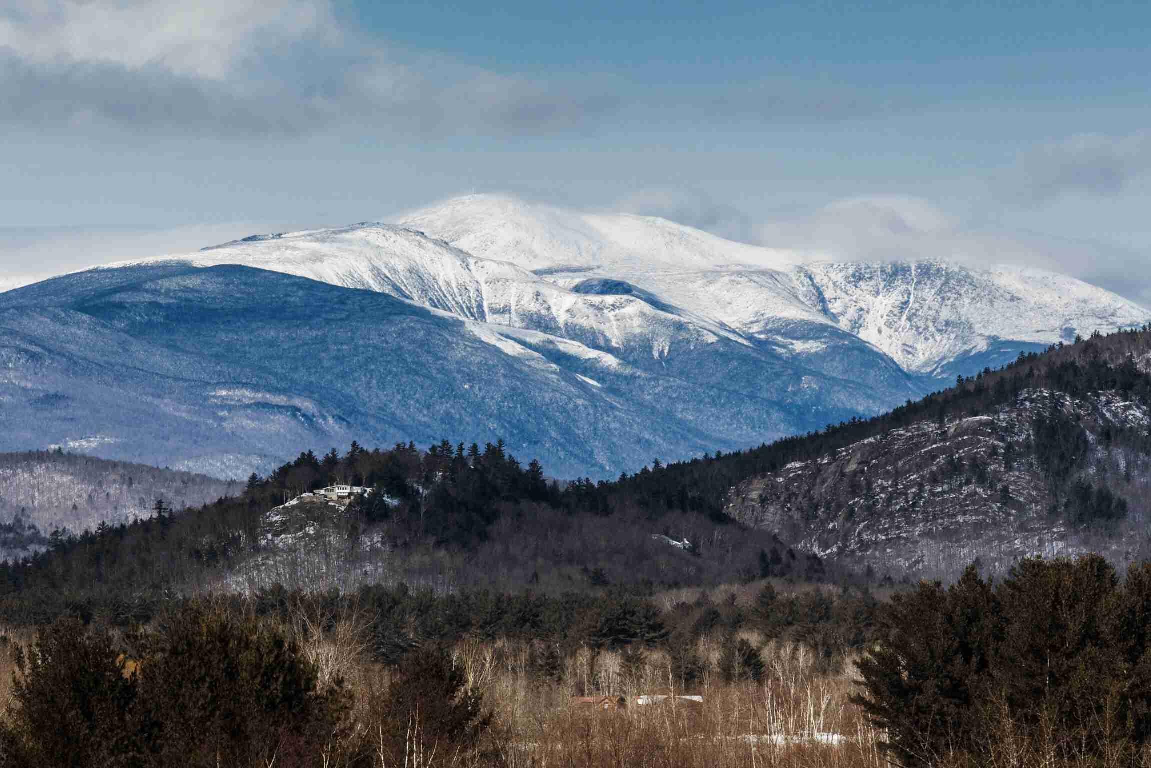 Snowcapped Mount Washington Against Sky