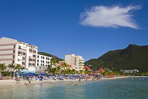 Great Bay Beach, Philipsburg, St. Maarten, Netherlands Antilles, West Indies, Caribbean, Central America