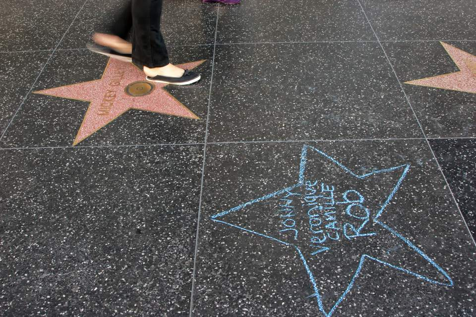 Hollywood Walk Of Fame A Photo Gallery
