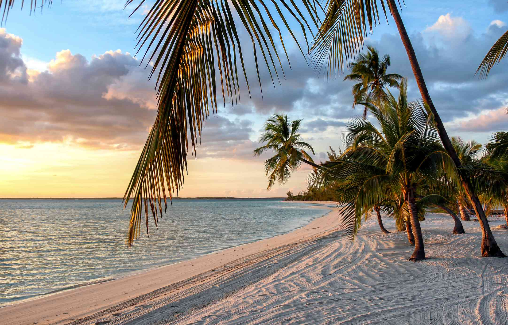 A beautiful sunset in the Bahamas