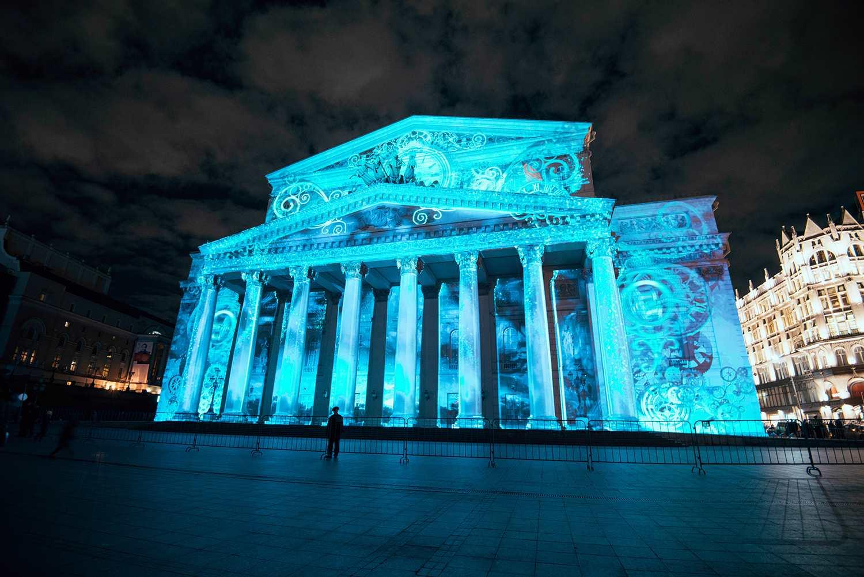 El Teatro Bolshoi durante el Festival del Círculo de Luz