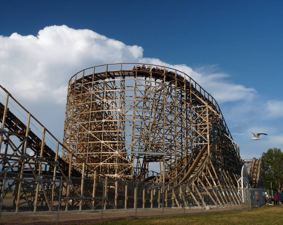 The Zippin Pippin is an old wooden roller coaster now at Bay Beach Amusement Park in Green Bay, Wisconsin. It is listed on the National Register of Historic Places.