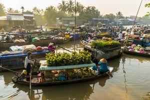 Can Tho and floating market, Vietnam