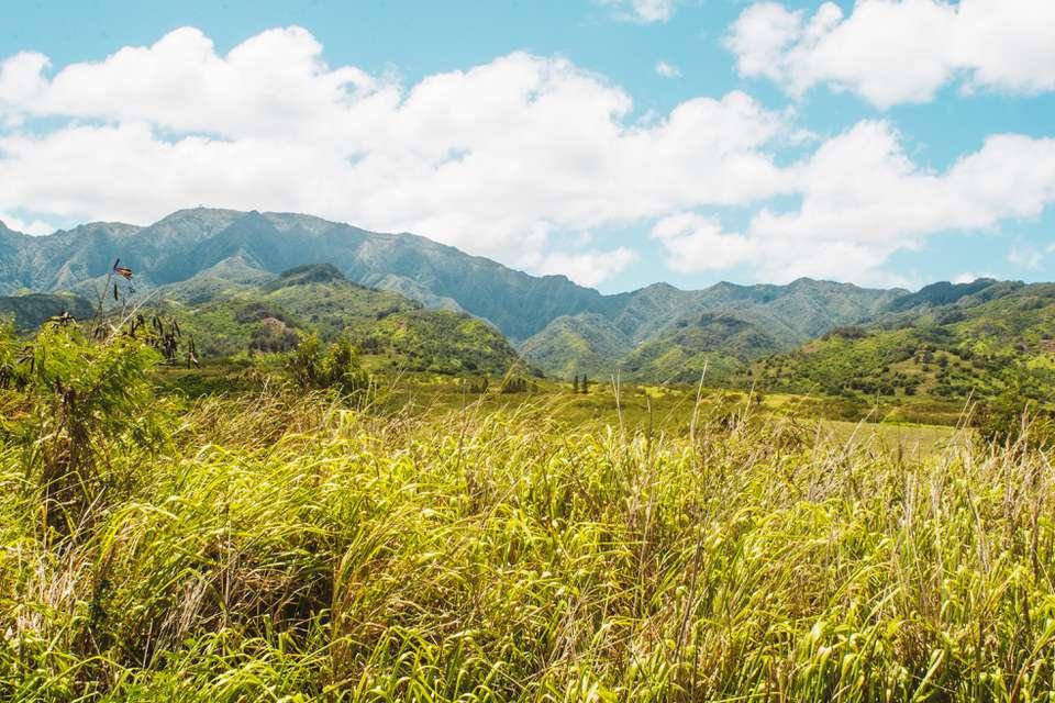 ¿Montaña tan de la costa norte de Oahu