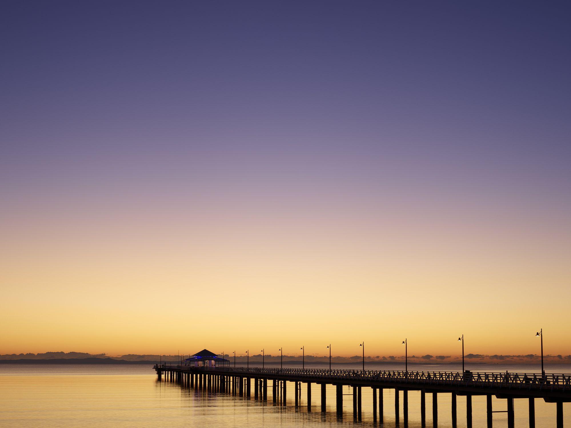 Sunrise over Shorncliffe Pier
