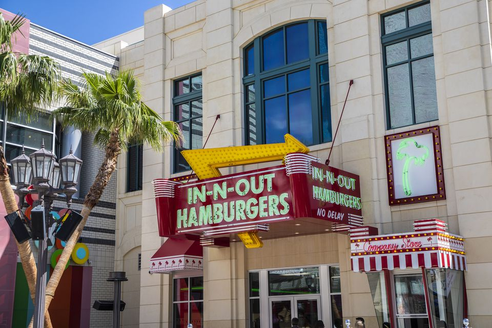 In N Out Burger on the Las Vegas Strip
