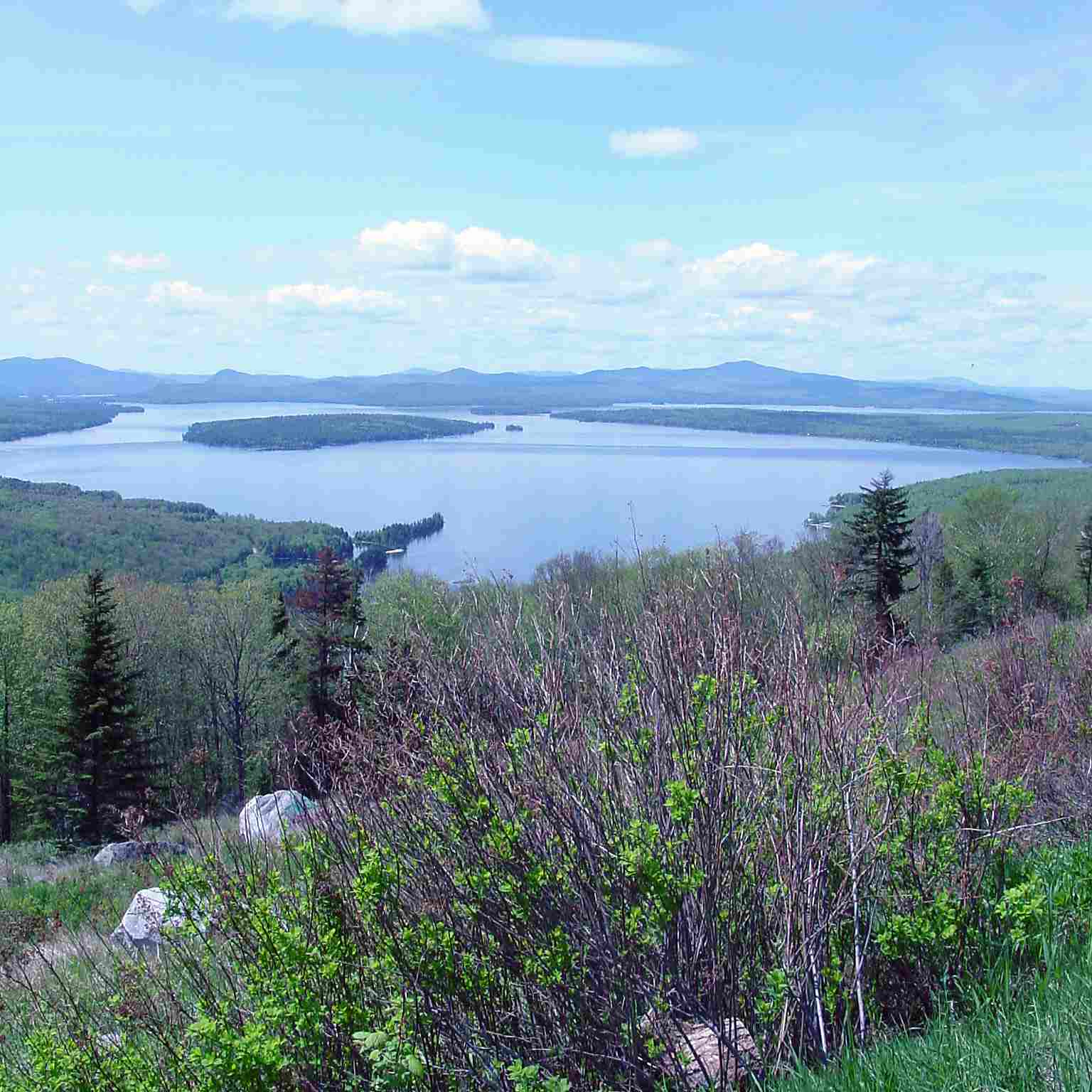 Lake and Mountains - Height of Land Maine Picture