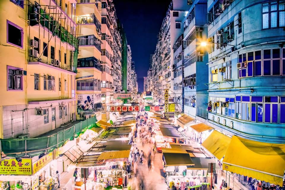 mercado nocturno Mong Kok, Hong Kong