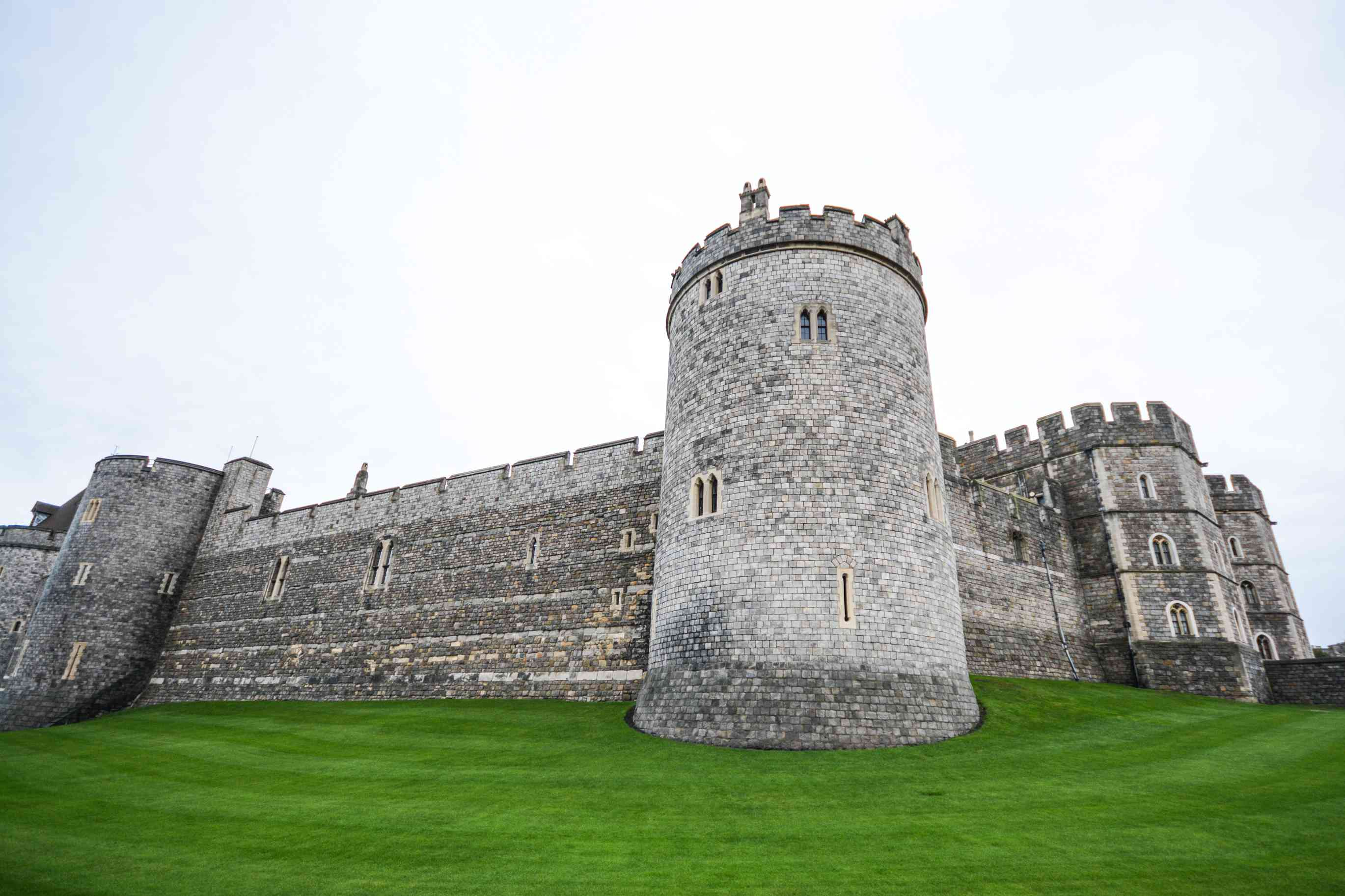 Exterior fortified walls of Windsor Castle