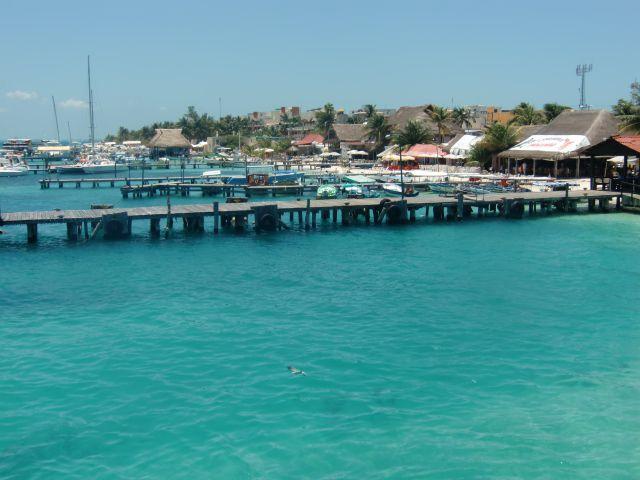 Ferry dock at Isla Mujeres. Photo © Teresa Plowright.