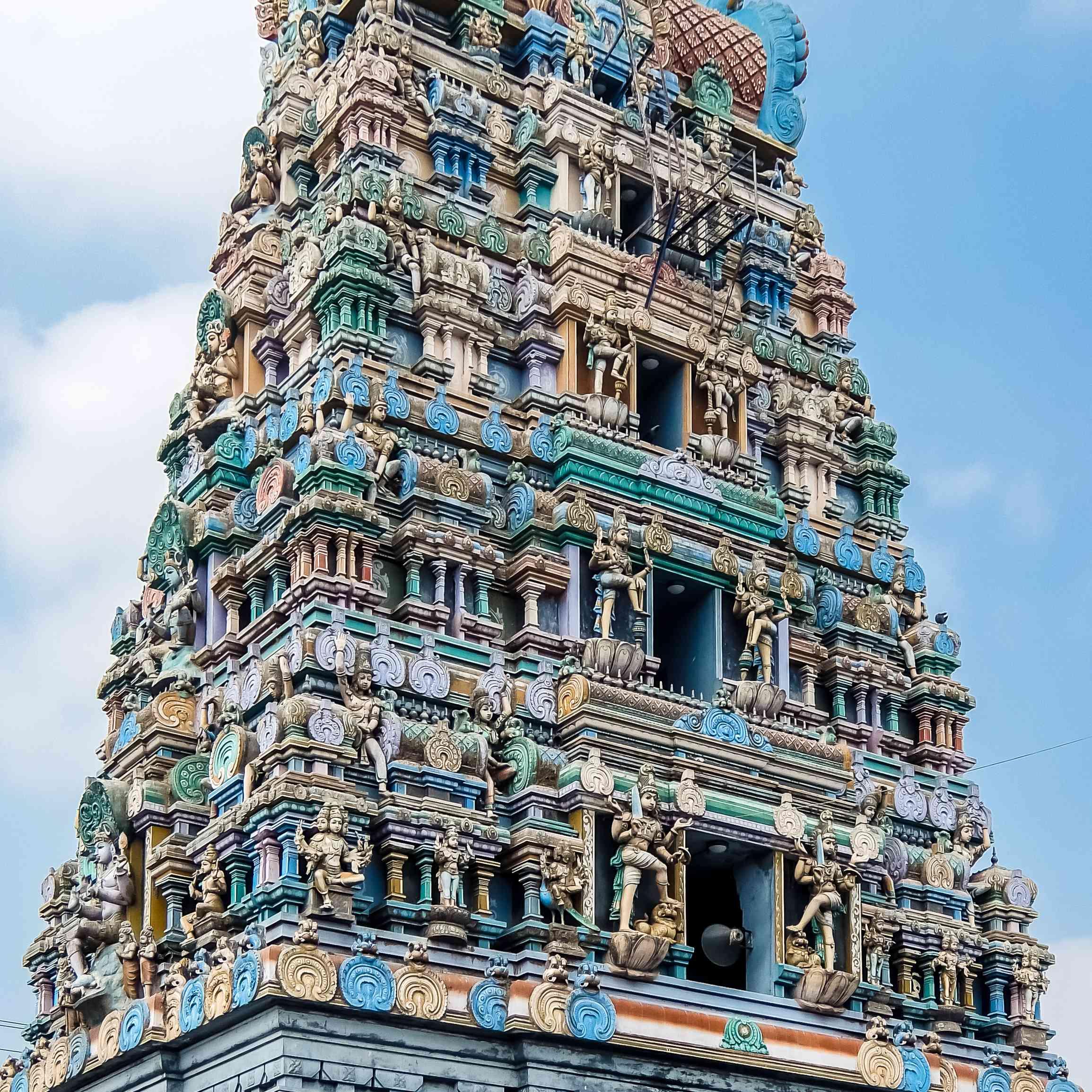 View of Kumarakottam Temple in Kanchipuram, India.