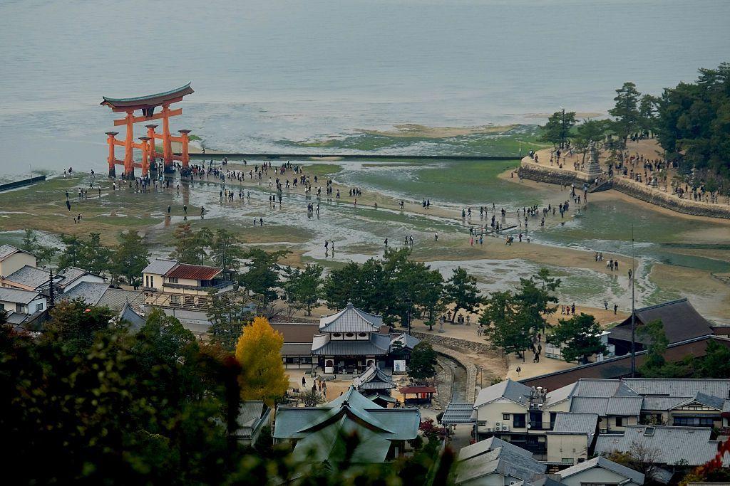 Shrine Island Torii Gate View