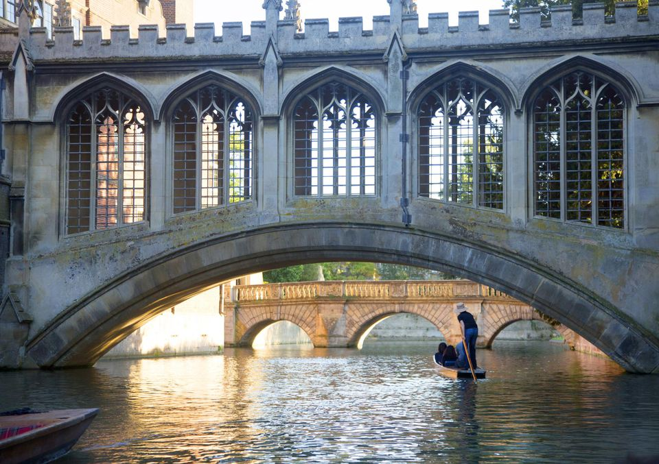 View of bridge at Cambridge University