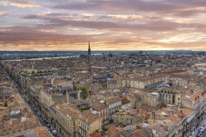 Bordeaux, France, viewed from above.