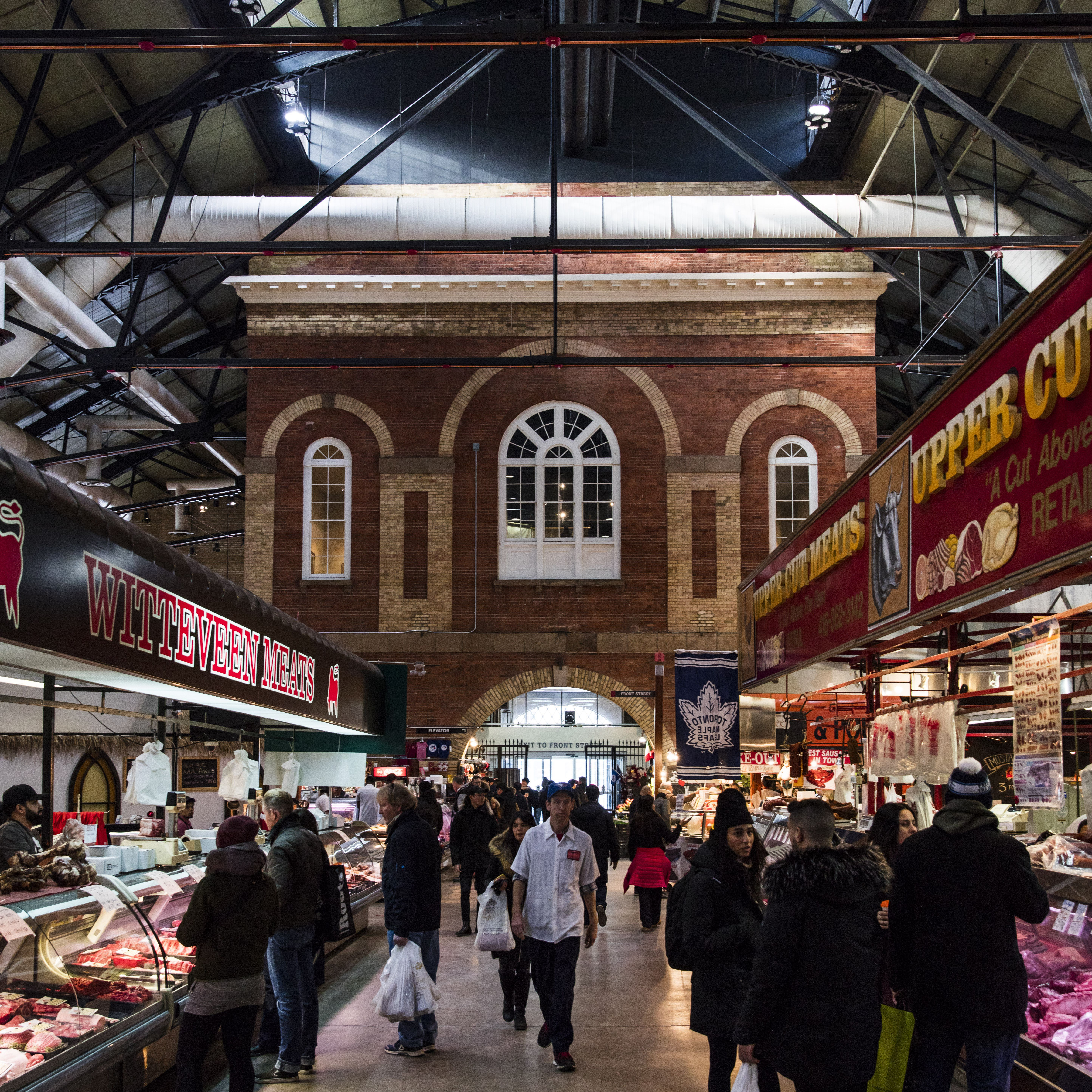 Inside the St Lawrence Market