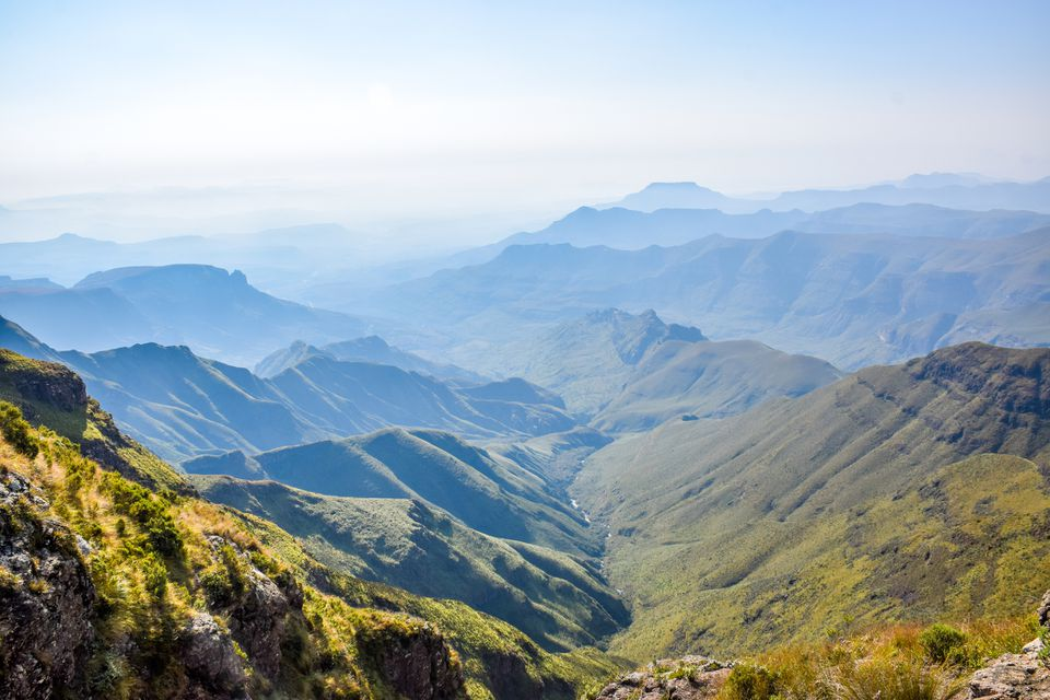 View across the Drakensberg Mountains, South Africa