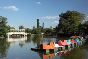 Paddleboats in a park in Palermo, Buenos Aires