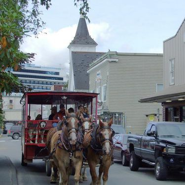 Horse Trolley in Downtown Ketchikan, Alaska