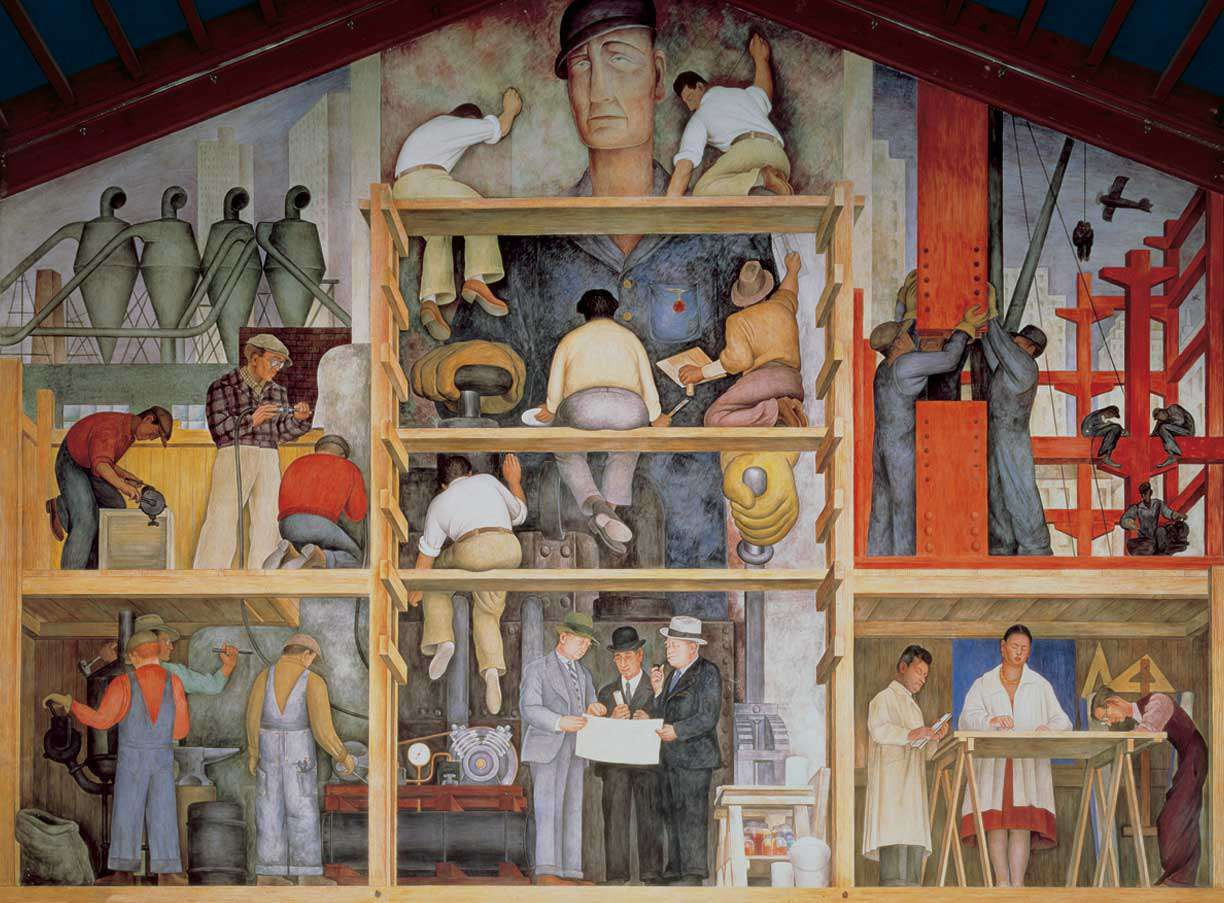 Diego Rivera, The Making of a Fresco Showing the Building of a City