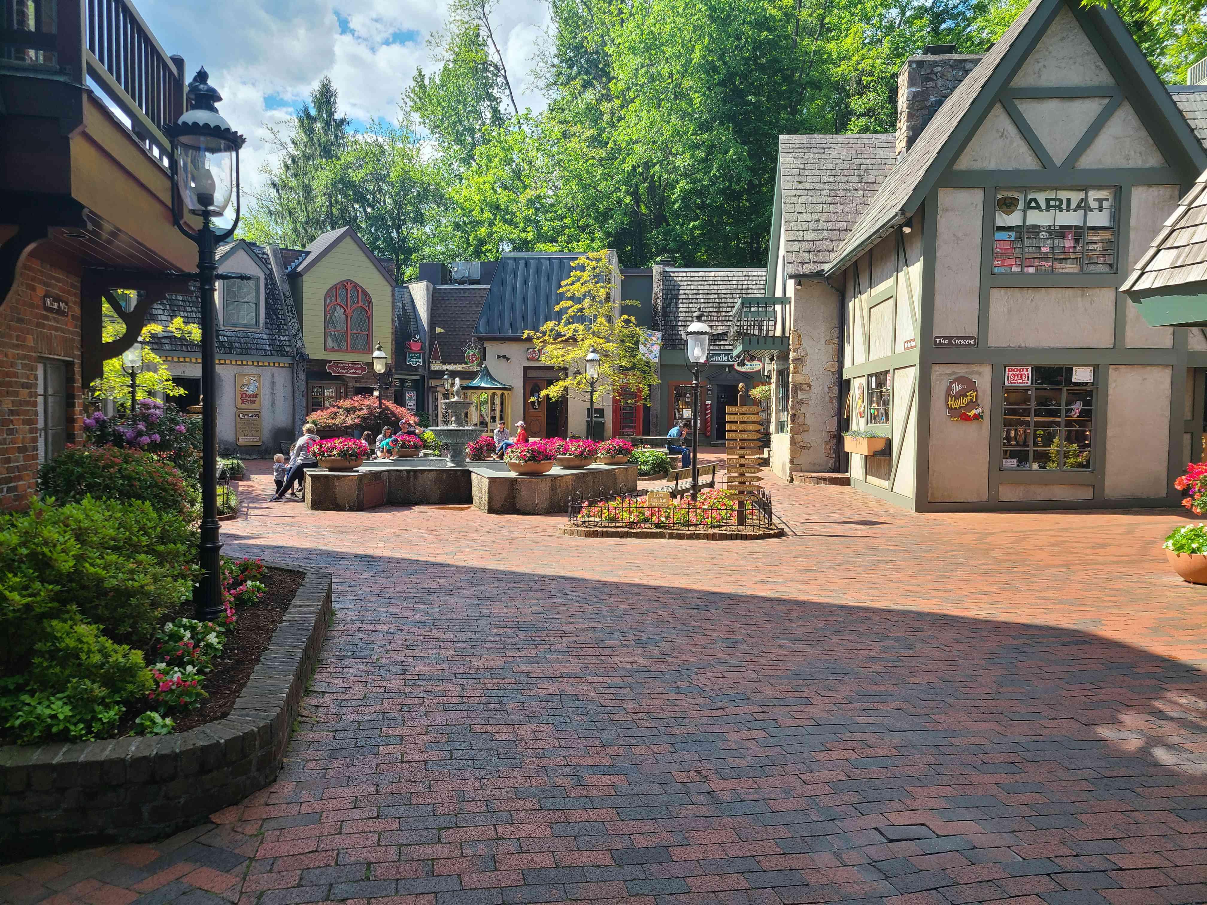 Village Shops area of Gatlinburg main strip