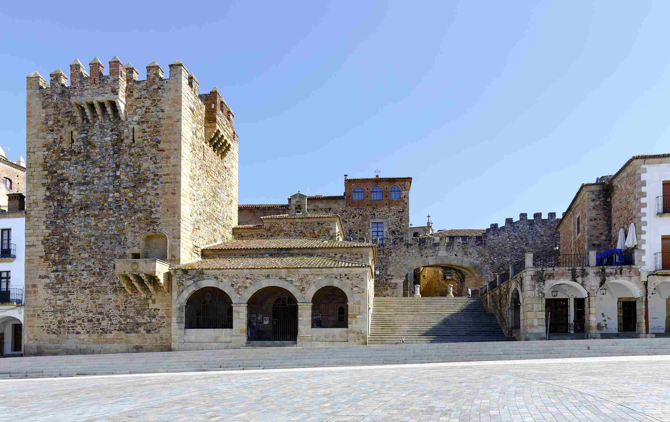 Caceres Extremadura Spain. Bujaco Tower