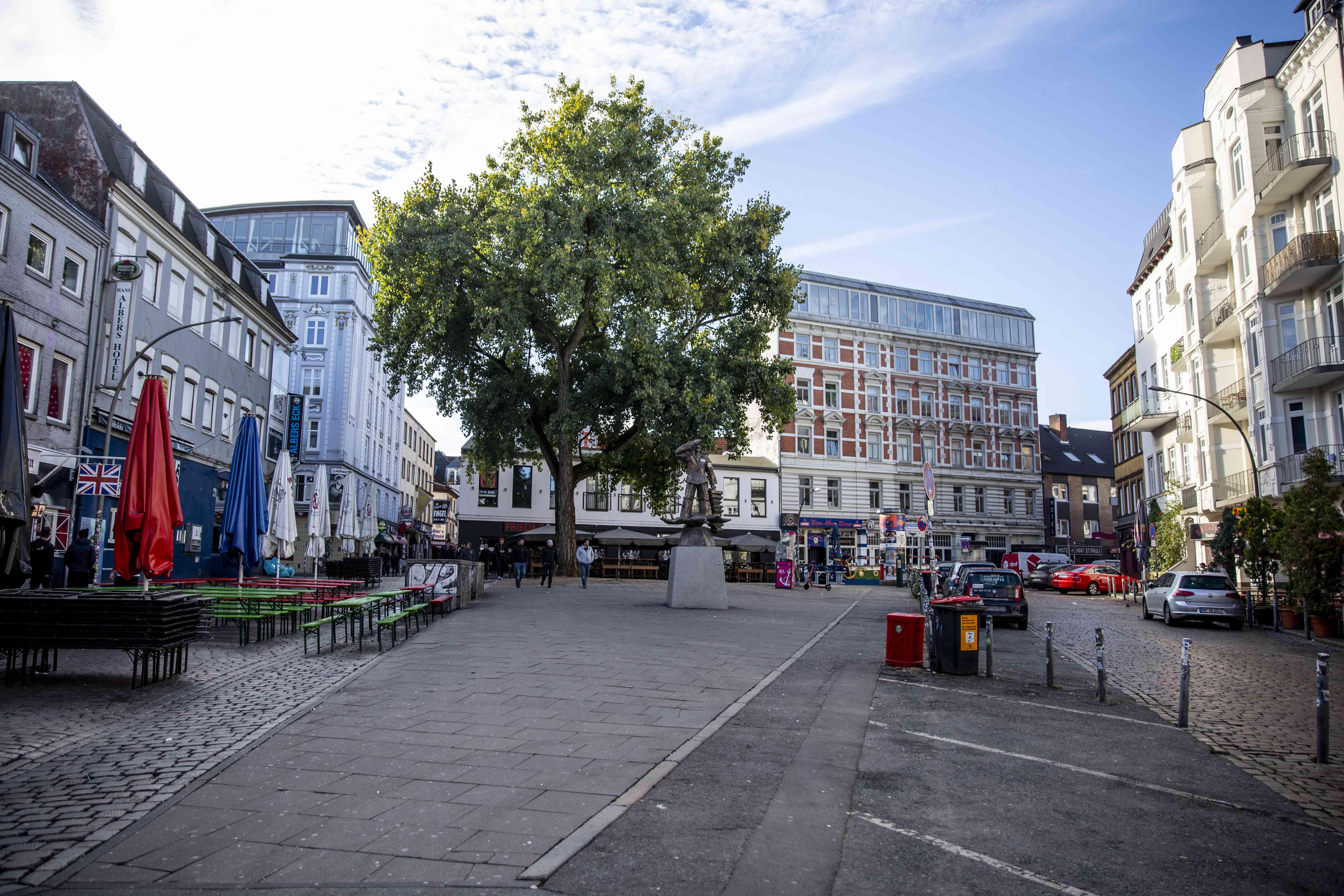 Square in the Reeperbahn
