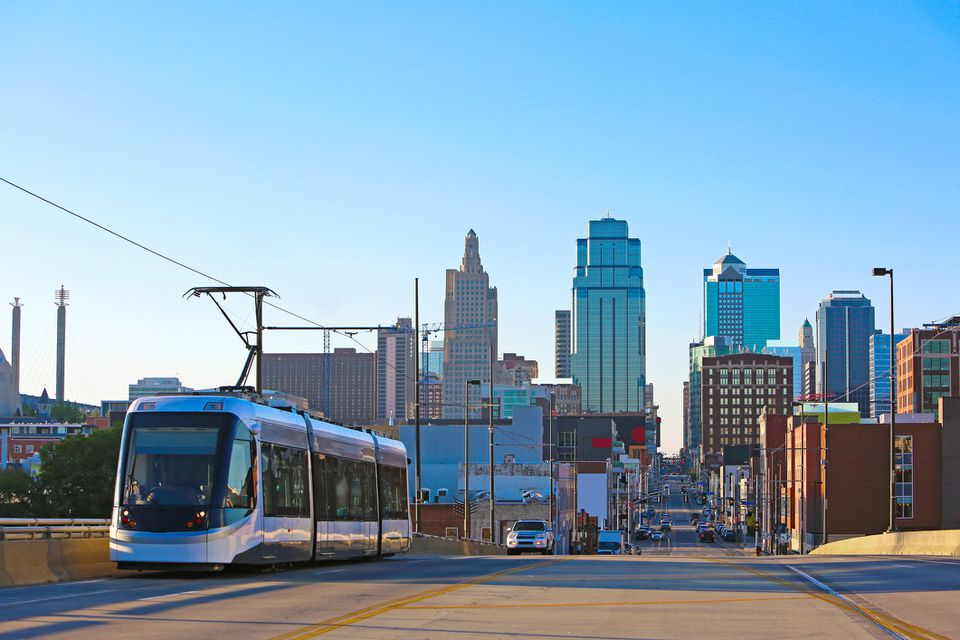 Downtown Kansas City Skyline Streetcar
