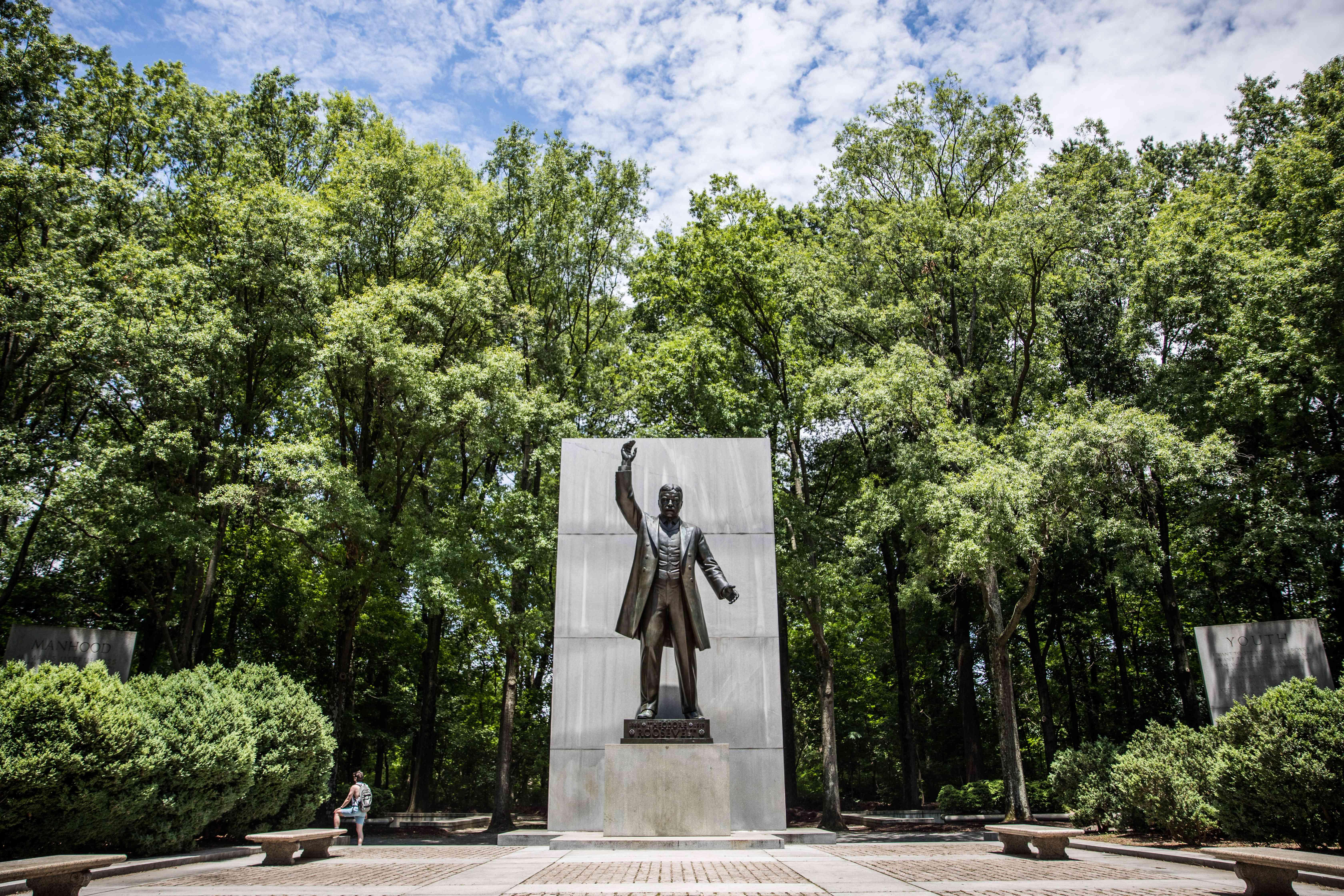 Estatua en el Parque Theodore Roosevelt