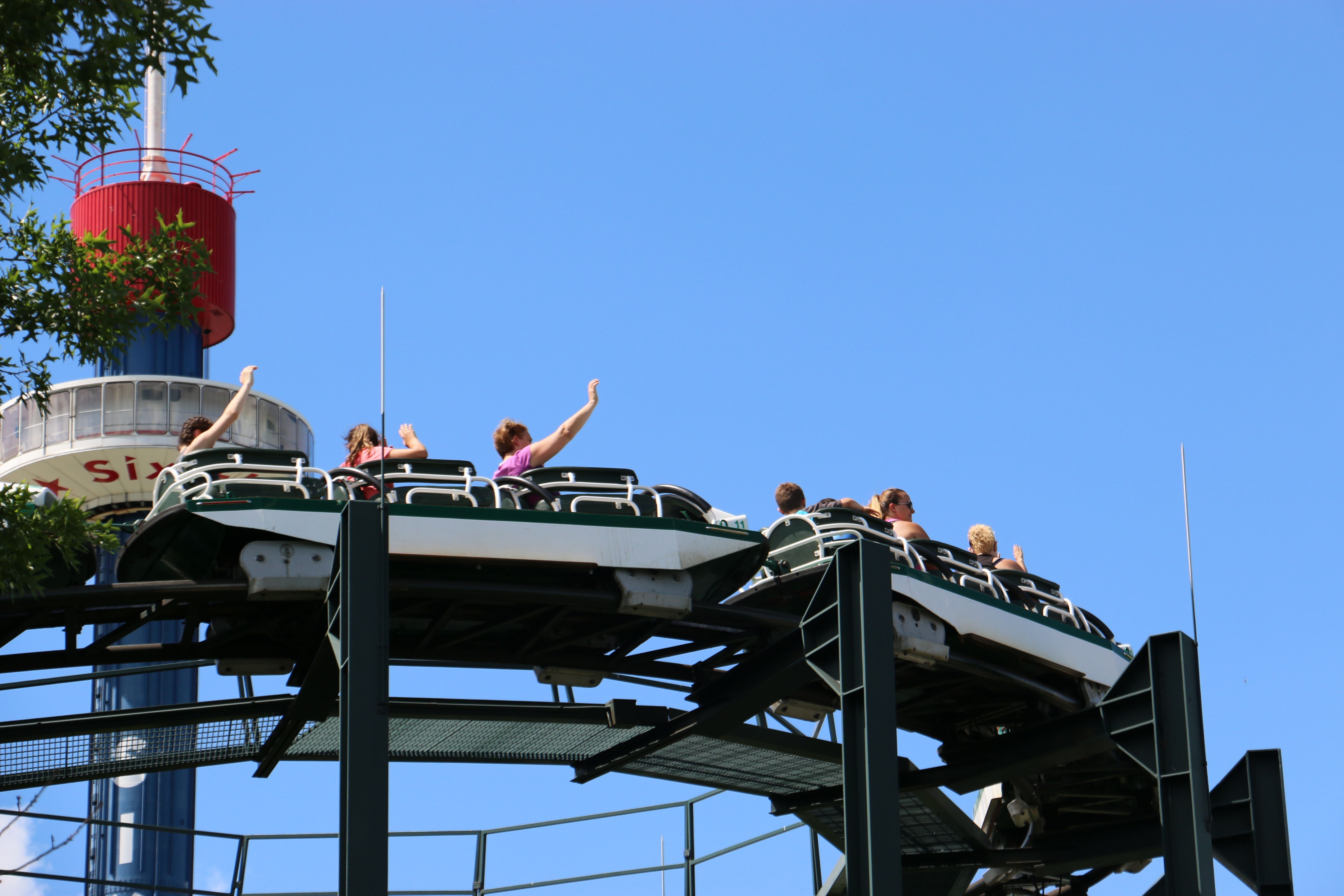 Whizzer coaster at Six Flags