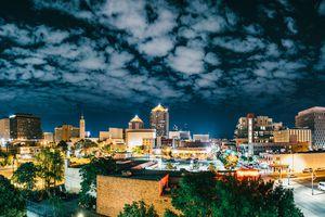 Panorama of Albuquerque Skyline at Night