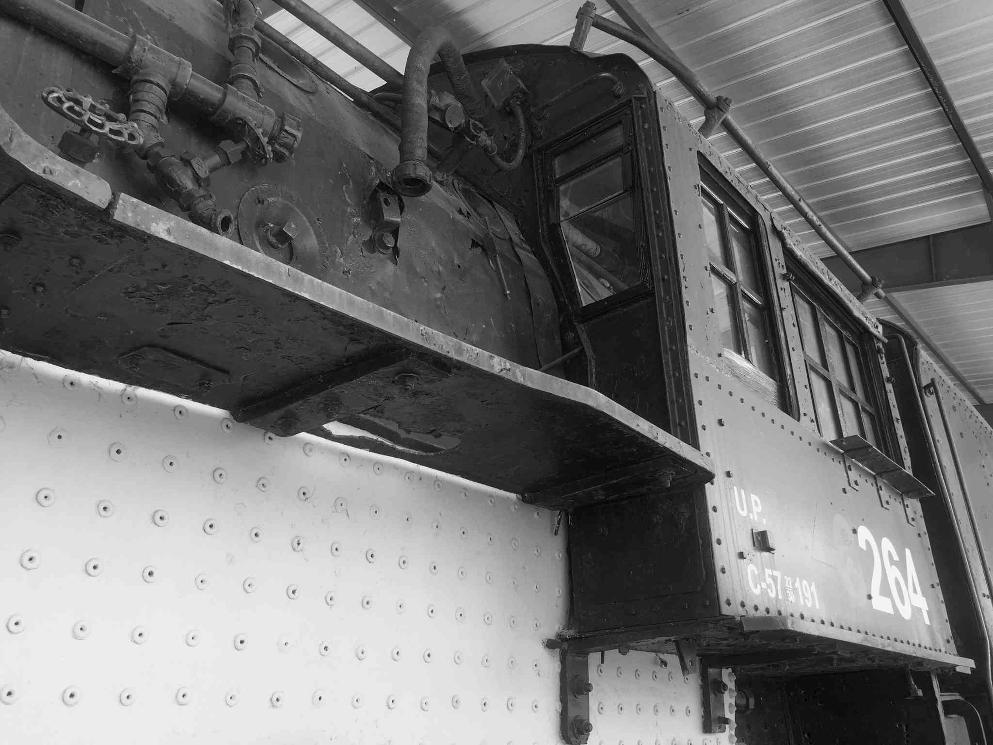 Train In Shed At Nevada State Railroad Museum
