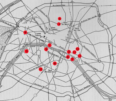 Paris Map With Attractions.France Maps For Rail Paris Attractions And Distance