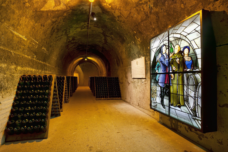 Taittinger Champagne cellar in Reims, France